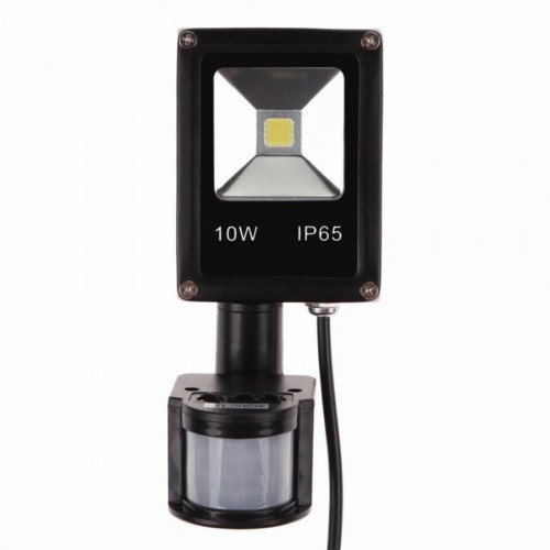 10W 12VDC LED Outdoor Flood Light With Motion Sensor