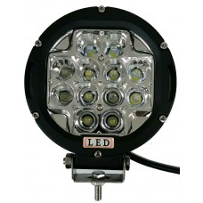 "6"" 60W LED Flood Light - black ring"