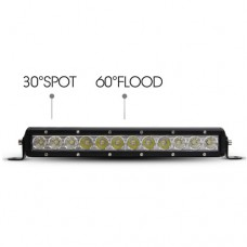 "13"" 60W Single Row LED Light Bar"