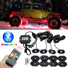 8 PODs Waterproof LED light kit - RGB w/ multi modes & music sync
