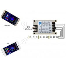 Bluetooth RGB led controller DC12V 24V 42A