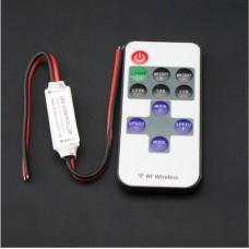 DC 12V 11 Keys RF Remote Controller Mini Dimmer for Led Single Color Strip