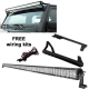 "52"" 300W LED Light Bar + Jeep Wrangler windshield bracket + wiring harness"